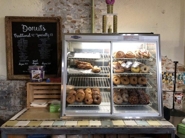 Doughnuts at Meriwerth's coffee shop Leavenworth Kansas