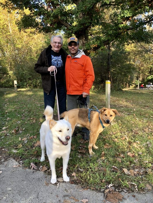 Old Friends: Jack, Hakam, Mickie (dog) and Richey (dog)