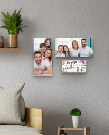 Personalised Family Set of 3 Wall Hanging Plaques