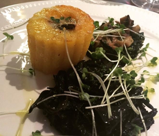 Polenta with wild black mushroom