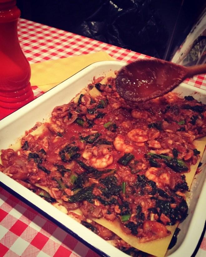 Fish & Prawn Lasagna