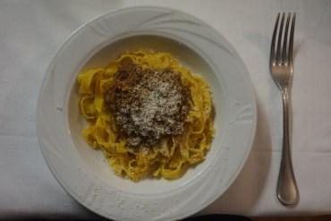 Tagliatelle with bolognese ragu