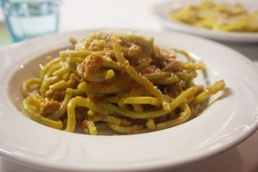 Gramignone verde with Sausage ragú