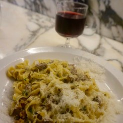 Padella - Fettuccine with chicken livers and Marsala