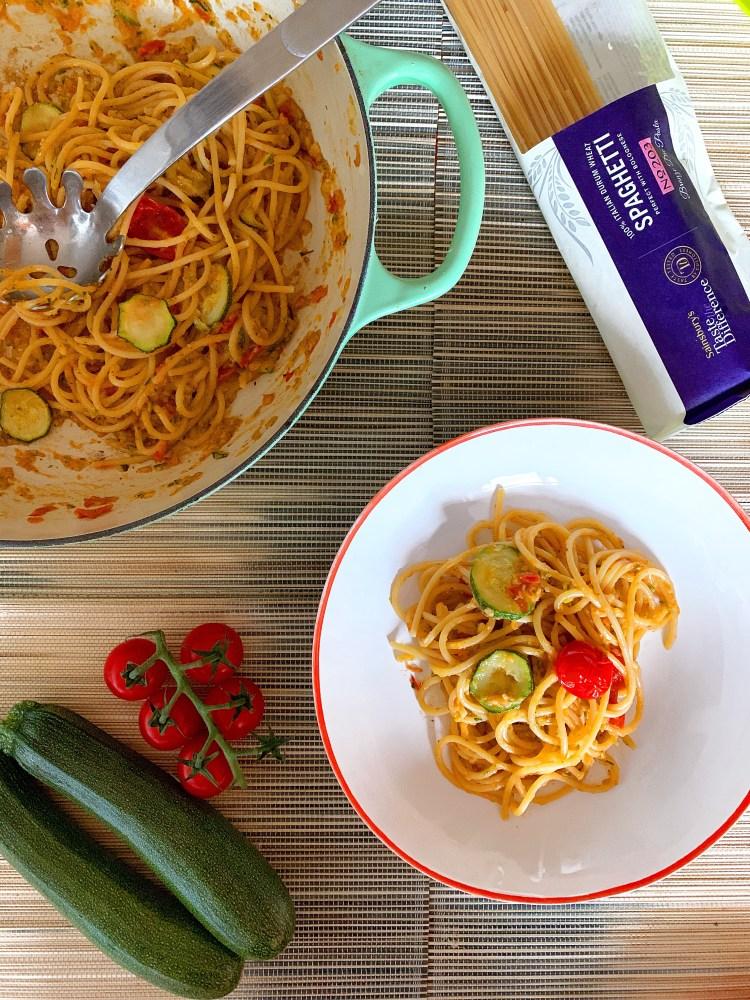 creamy courgette pasta