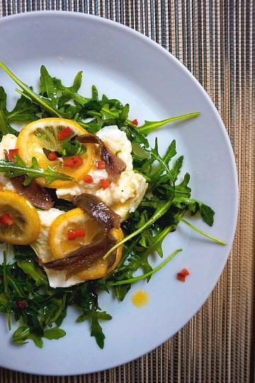 Mozzarella roasted lemon salad