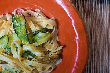 courgette and mint pasta