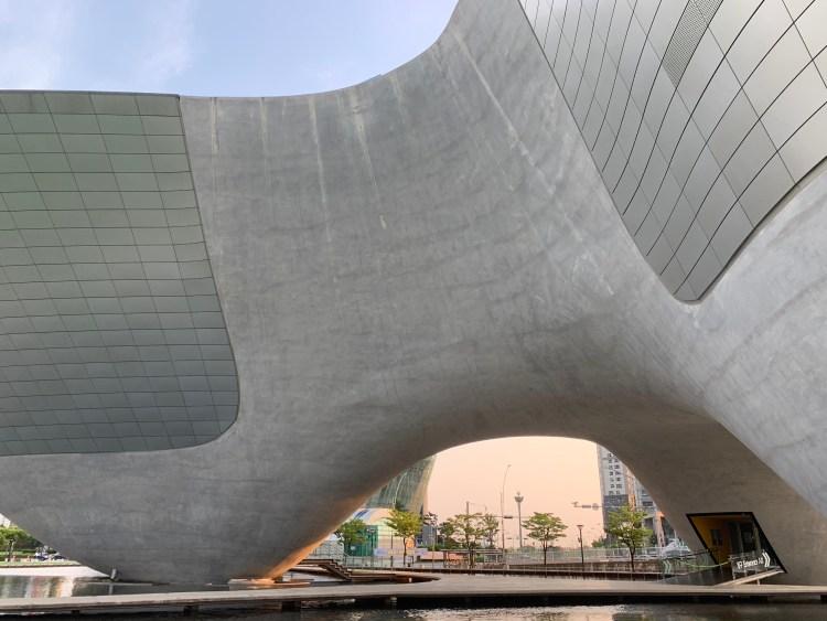 One of the weird buildings go in Korea