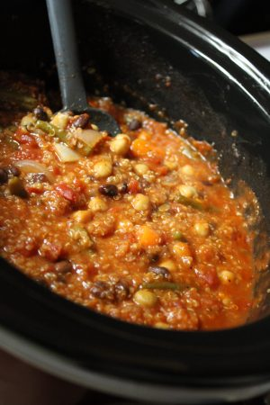 Finished veggie soup