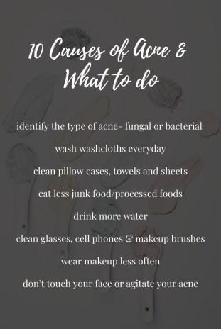 10 Ways to Beat Acne