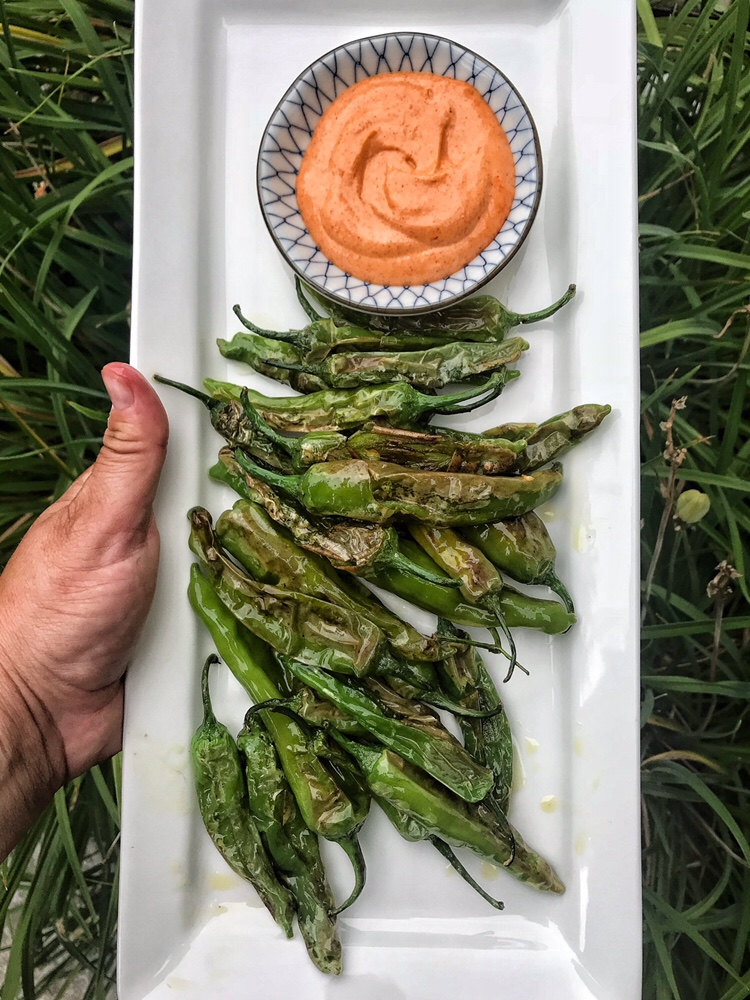 Shishito Peppers with Aioli