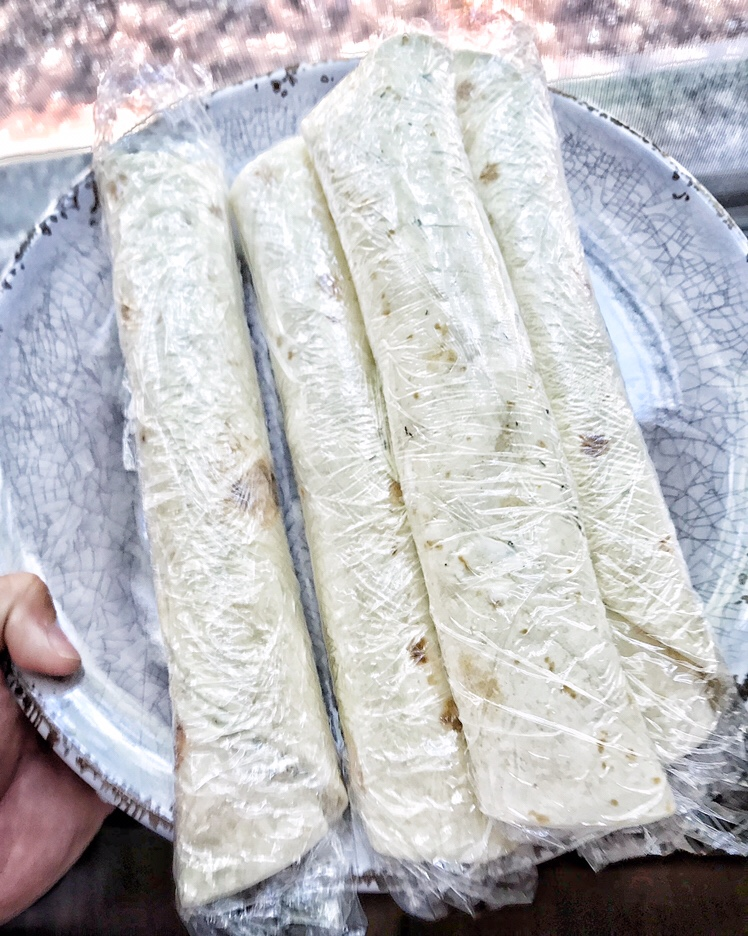 rolled up tortillas