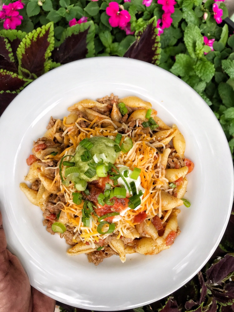 A taco and pasta lovers dream. Perfect for even the pickiest eaters