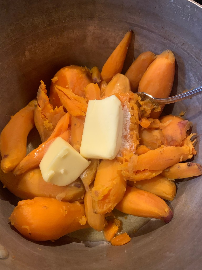 Sweet Potatoes with Butter