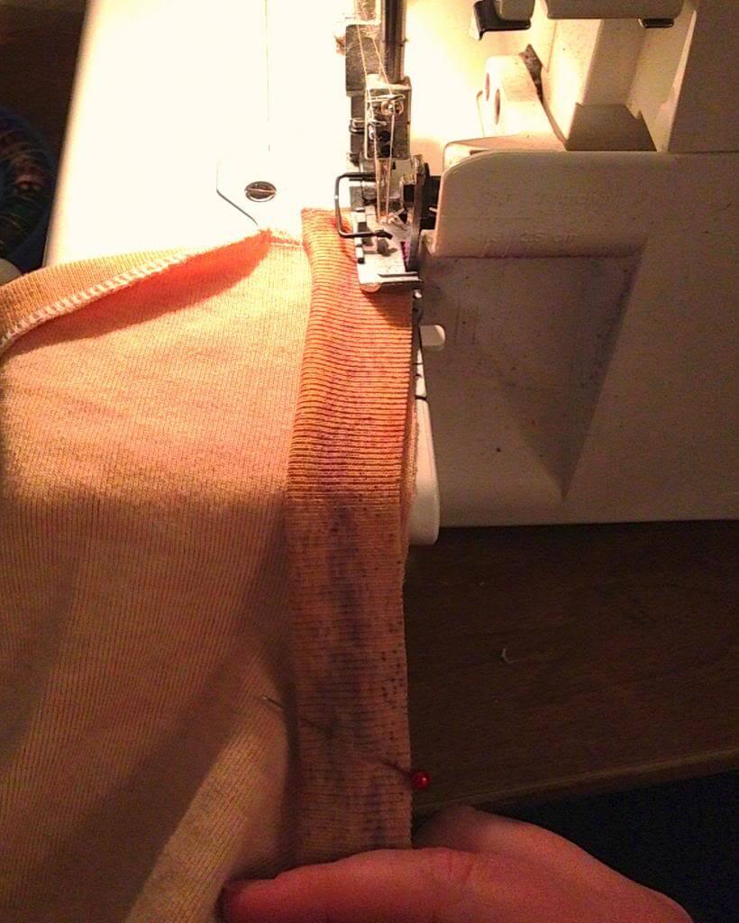 Sew along the edge.
