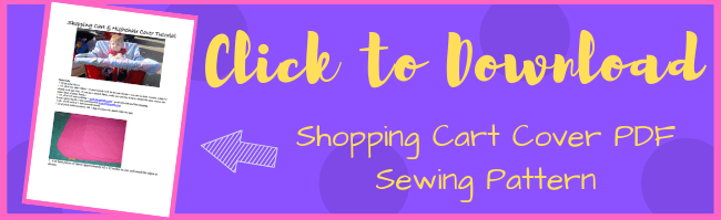 Click HERE to Download the Shopping Cart Cover PDF Sewing Pattern
