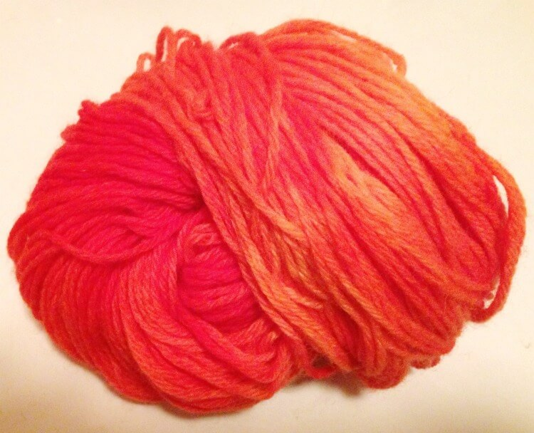 Finished Kool-Aid Dyed Wool Yarn