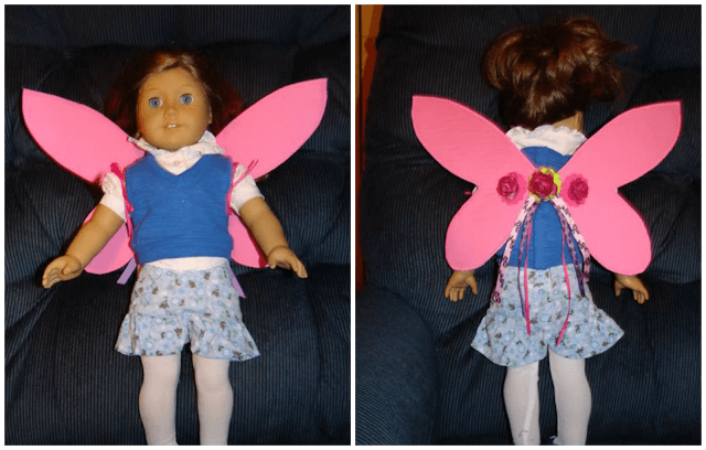 Finished Doll Fairy Wings for your American Girl