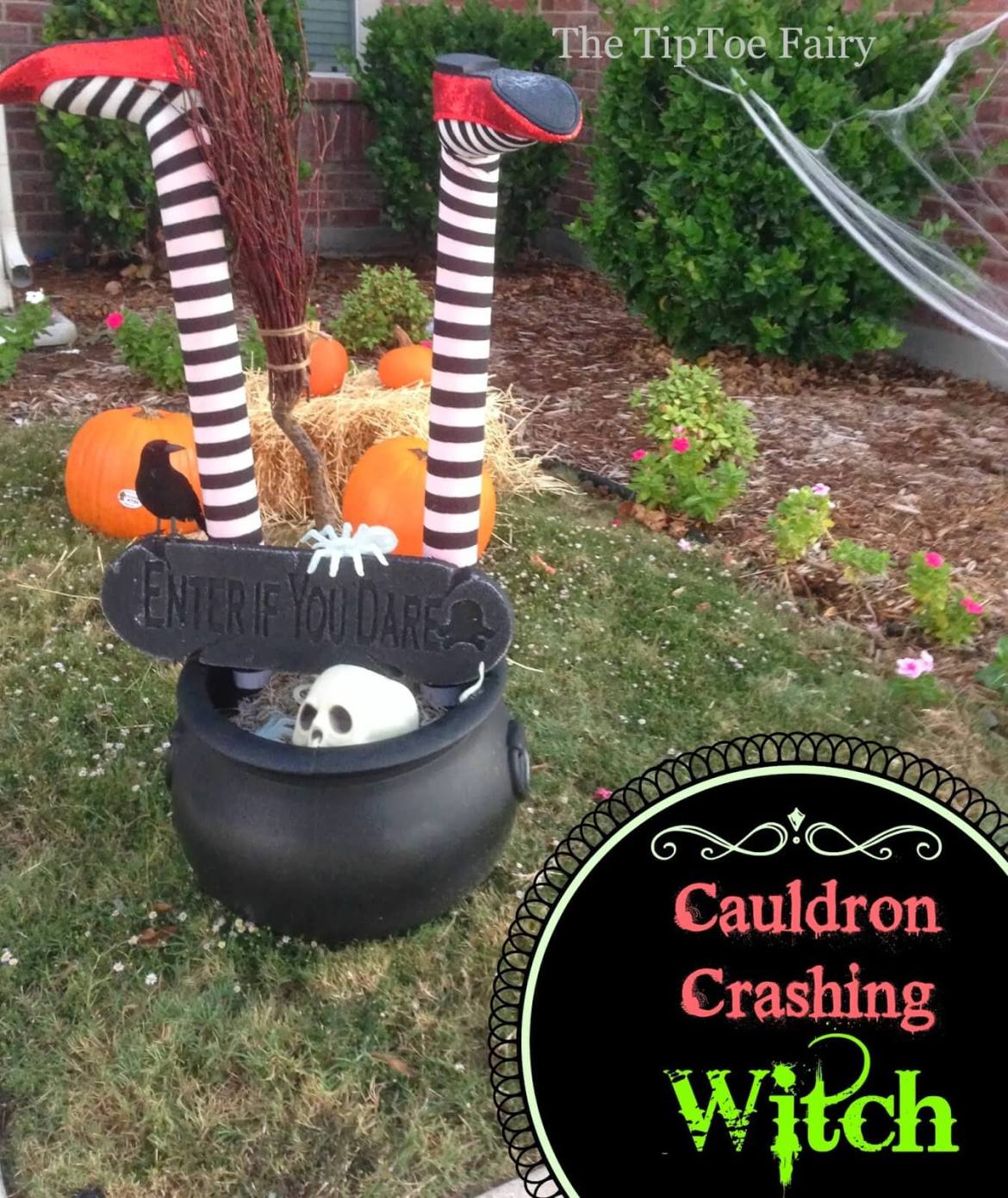 Learn how to make a Witch Crashing DIY for Halloween