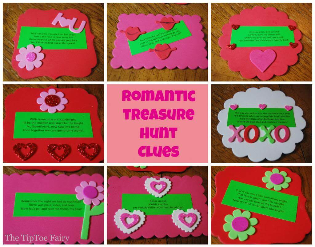 Romantic Treasure Hunt Clues