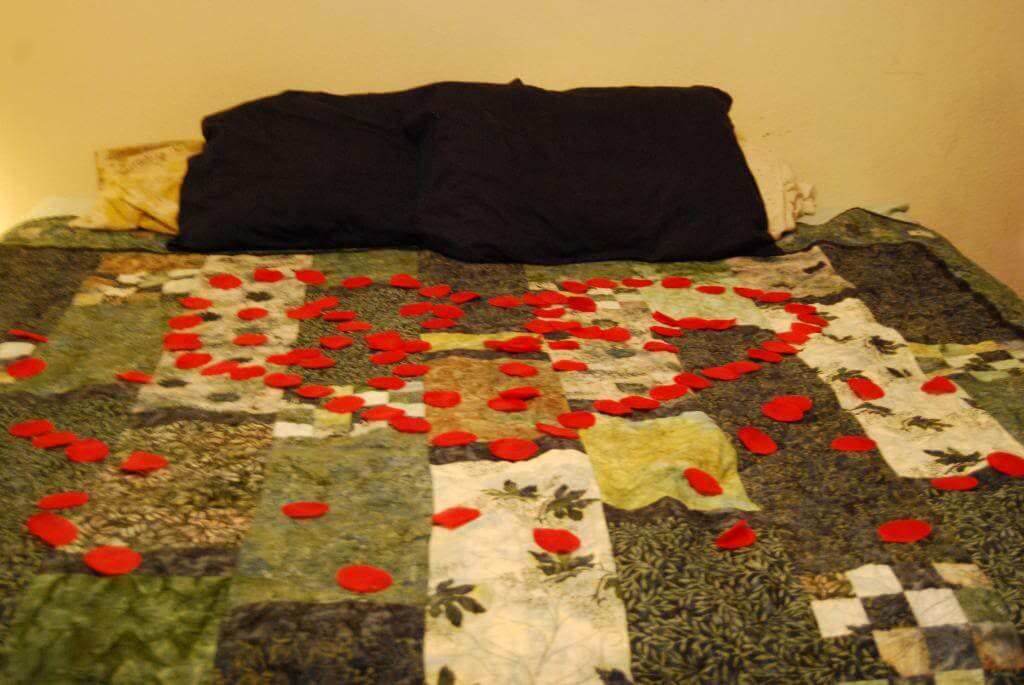 Rose Petals - the end to the date night treasure hunt - part 2