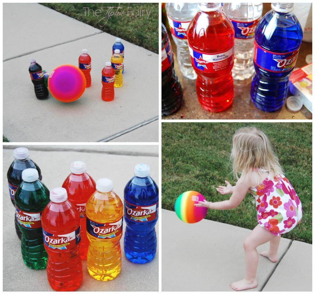 It's time to bowl! Recycle your old water bottles into this fun bowling game!