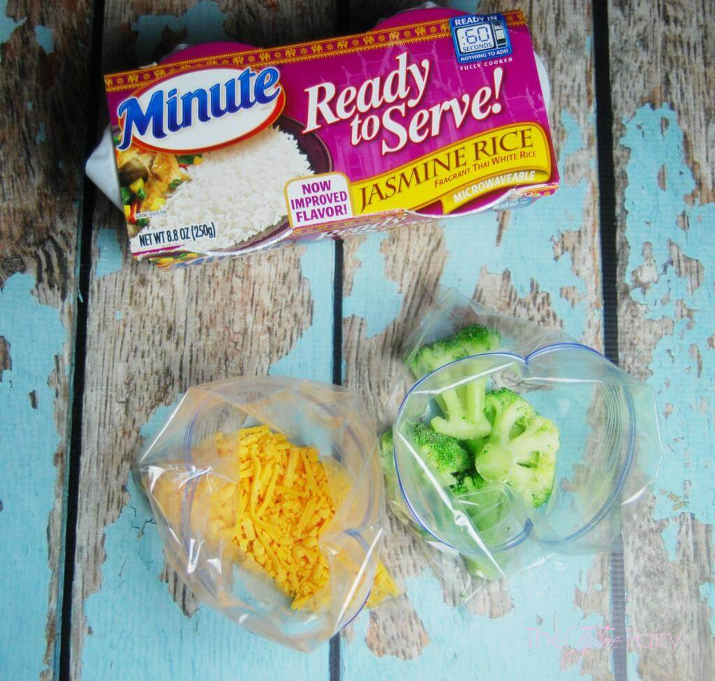 Cheesy Broccoli Rice Casserole for One! in the microwave in < 5 minutes #minutesnacks #ad