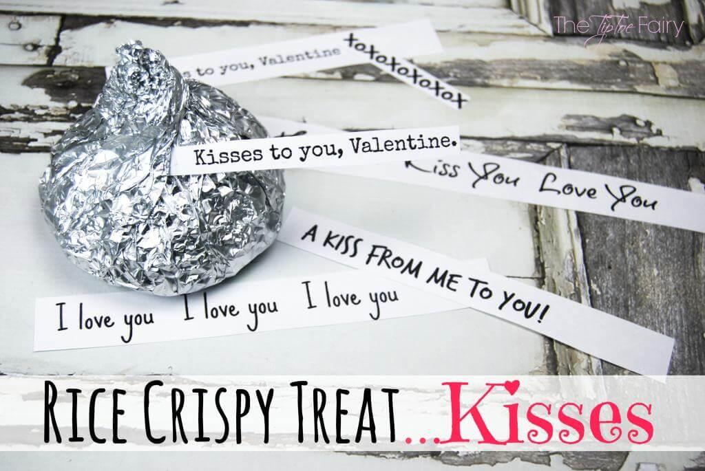 Rice Krispie Kisses for Valentine's Day