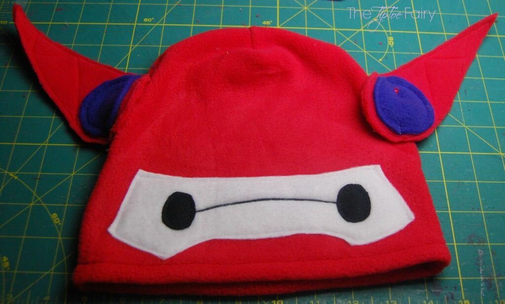 Big Hero 6 Baymax Fleece Hat Tutorial - come sewalong with me for the new Disney movie! | The TipToe Fairy #BigHero6Release #ad