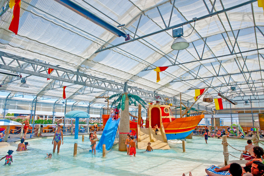 The indoor kid area at Schlitterbahn