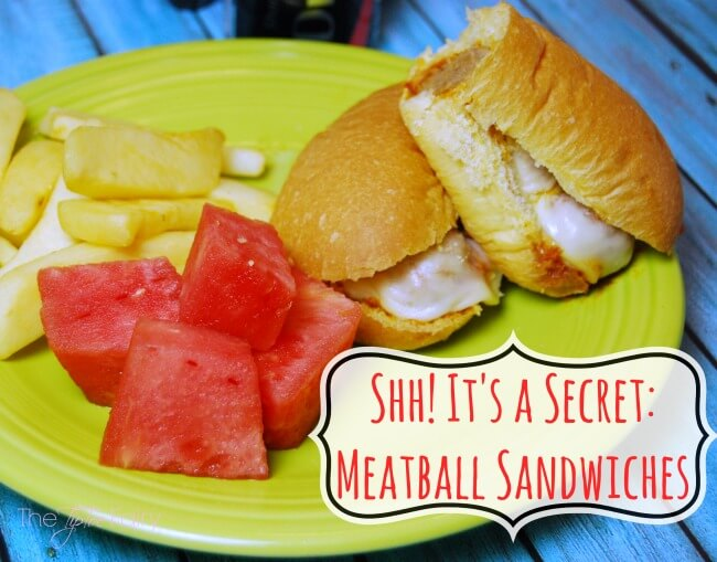 You'll never guess what's in my Secret Ingredient Meatball Sandwiches! Make the meatballs easy in the slow cooker! My family raves about them every time I make them! | The TipToe Fairy #ad #ShareSmiles