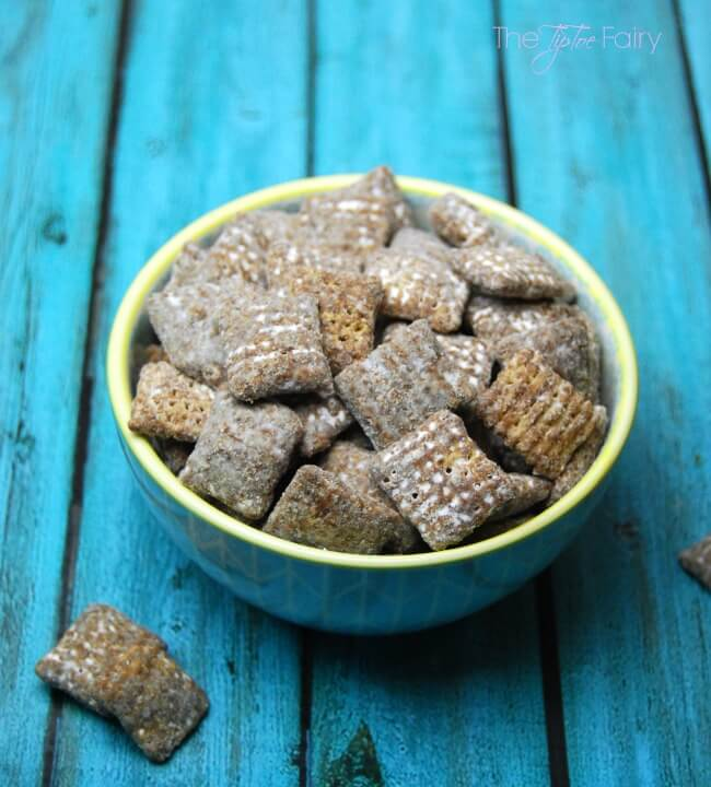 Cookie Butter Muddy Buddies - An easy dessert or treat! | The TipToe Fairy
