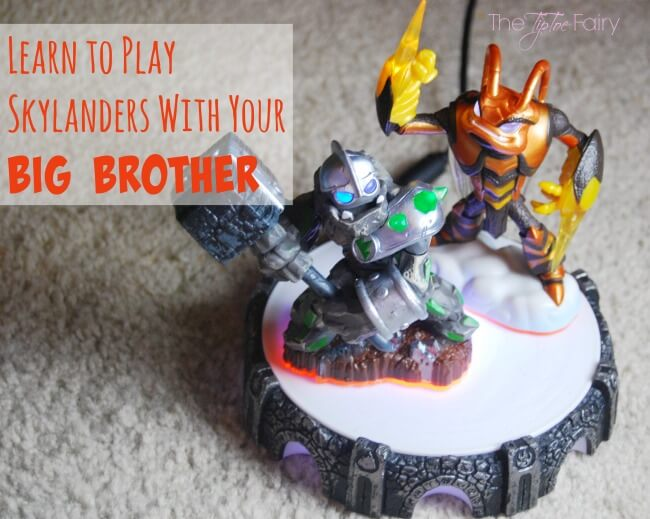 Teach Your Little Sister Video Games with Skylanders (ad) | The TipToe Fairy