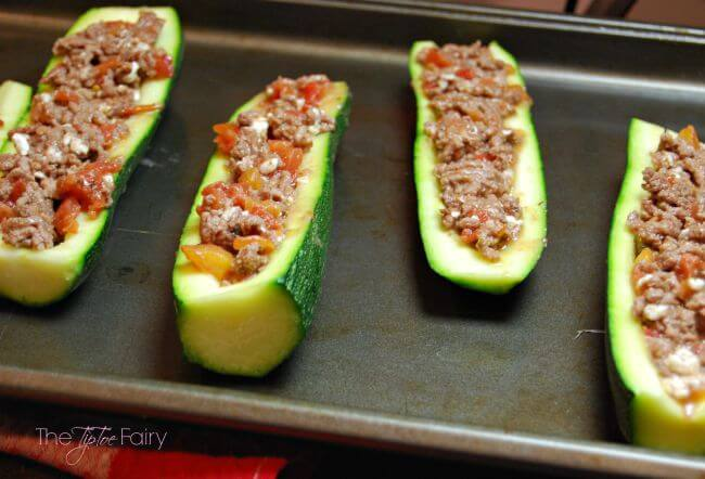 Easy Italian Zucchini Boats #GrillItNow #RedGoldRecipes #LaurasLeanBeef [ad] | The TipToe Fairy