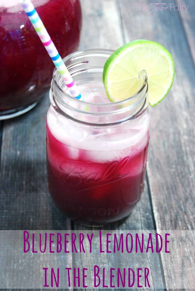 Make Blueberry Lemonade completely in the Blender - No juicing! #ad #HamiltonBeachBlenders @HamiltonBeach | The TipToe Fairy