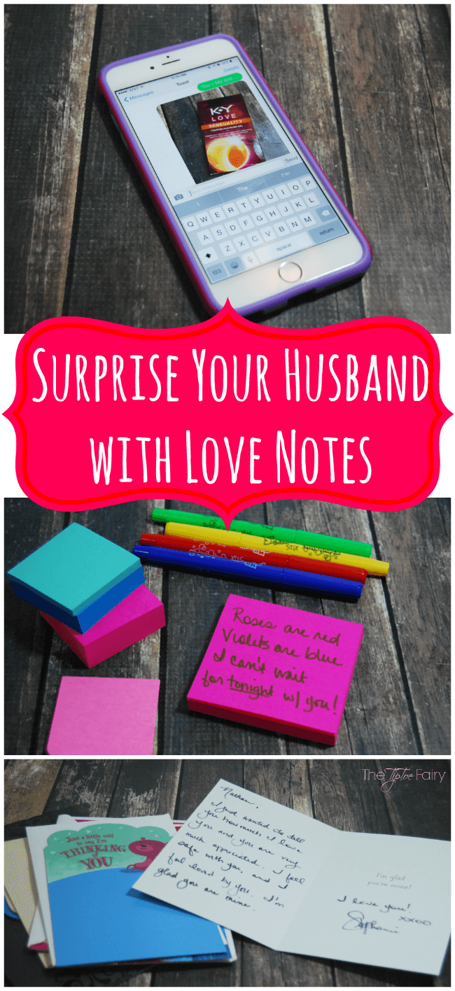 Surprise Your Husband With Love Notes The Tiptoe Fairy