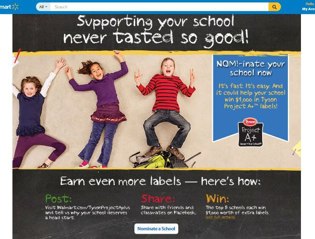 project-Nominate your school for $1000 in Tyson Project A+ Labels! #ad #TysonProjectAPlus @Tyson | The TipToe Fairy