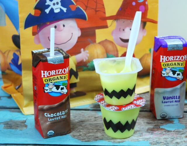 Treats and Eats with the #PeanutsMovie #ad @Albertsons - the Great Pumpkin pudding patch and Charlie Brown Popcorn | The TipToe Fairy