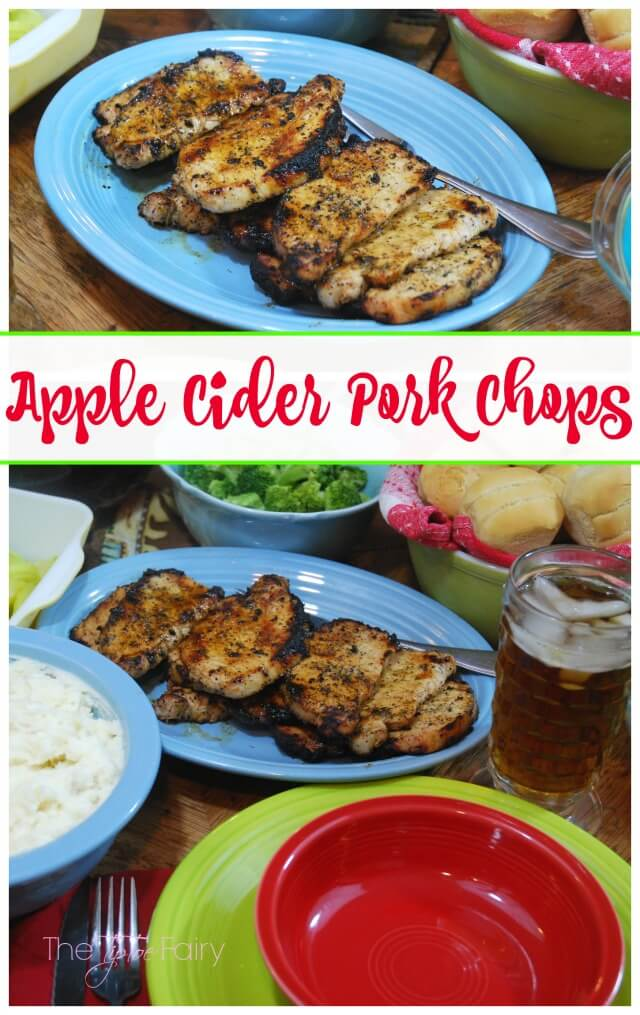 Apple Cider Pork Chops - easy, tender, and juicy! Perfect for weeknight meals! #SmithfieldPork AD   The TipToe Fairy