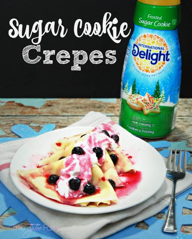 Sugar Cookie Crepes - a fun breakfast for the holidays! @Walmart #DelightfulMoments #ad | The TipToe Fairy