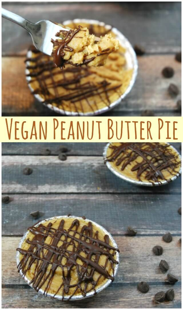 Vegan Peanut Butter Pie with peanut butter mousse made with coconut milk | The TipToe Fairy