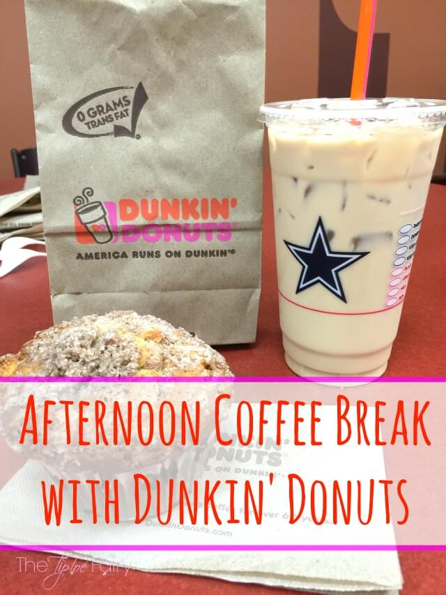 Have an afternoon #coffee break with @DunkinDonuts for just $1.99! #ad | The TipToe Fairy