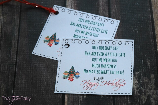 Belated #Holiday gift? Grab this #FREE Printable Card! #ad #craft #tutorial