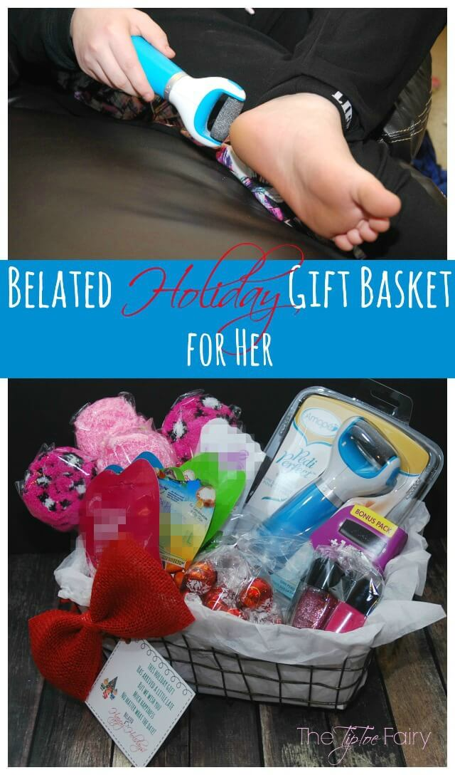 The perfect Belated Holiday Gift Basket for Her with #FREE Printable Card! #ad #giftbasket