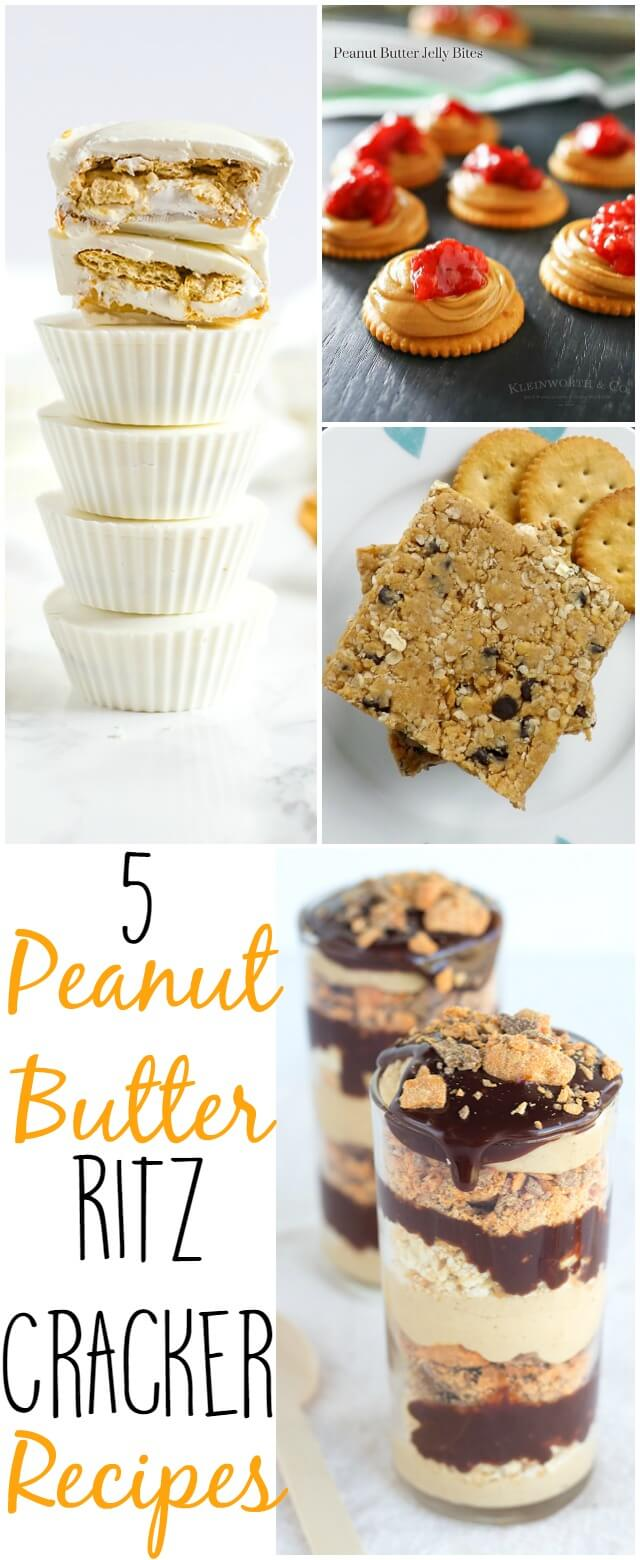 5 out of this world peanut butter and ritz cracker recipes!