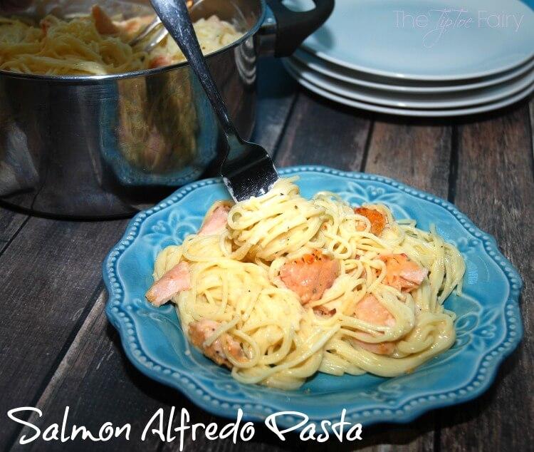 #GoGortons w Salmon Alfredo Pasta w/new @gortonsseafood Gourmet Fillets #ad #food #foodie