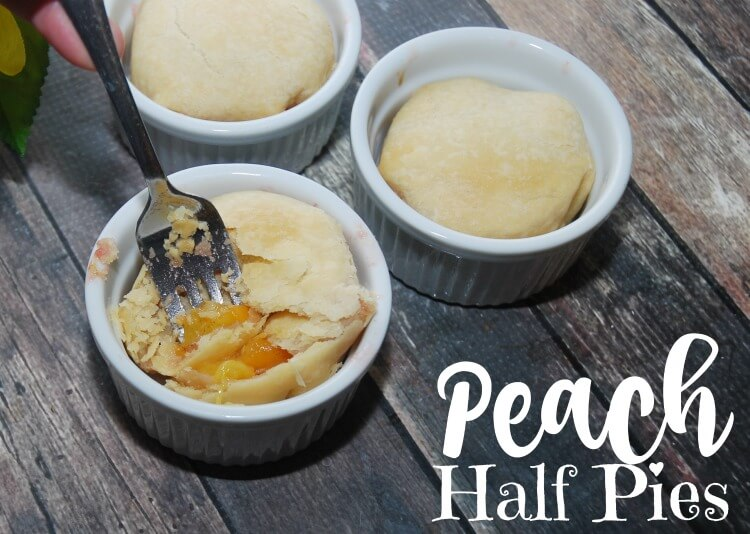 Take a Peach Half & make an easy #Pie! Peach Half Pie - You'll love it! #dessert #food