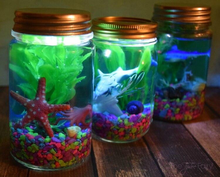 DIY Mason Jar Aquariums