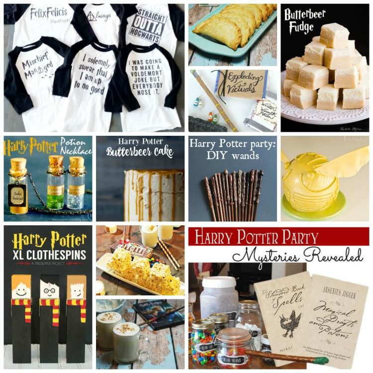 Lots of Harry Potter ideas for your next #party! #harrypotter #food #diy