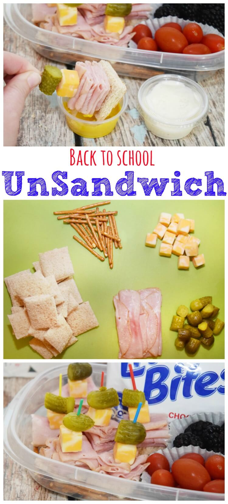 The UnSandwich - quick & easy #backtoschool #lunch idea! #ad #food